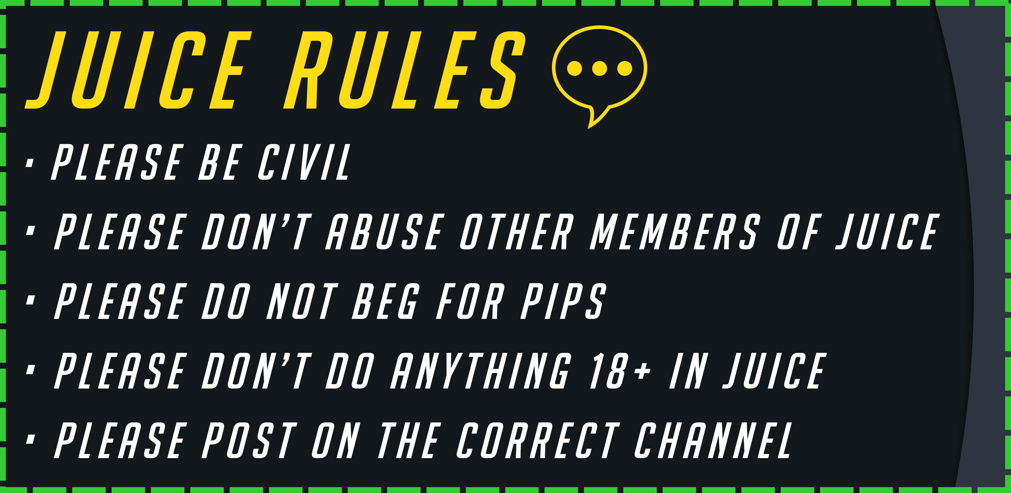juice rules