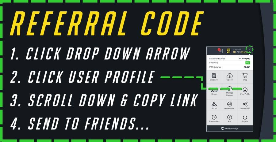 referral code